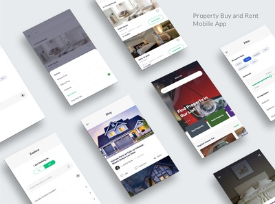 Property App Mock up Screens