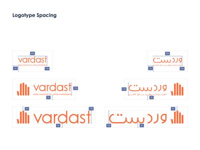 Vardast SaaS Startup - Logotype Spacing