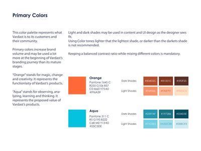 Vardast SaaS Startup - Primary Colors