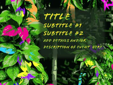 Colorful Foliage Template