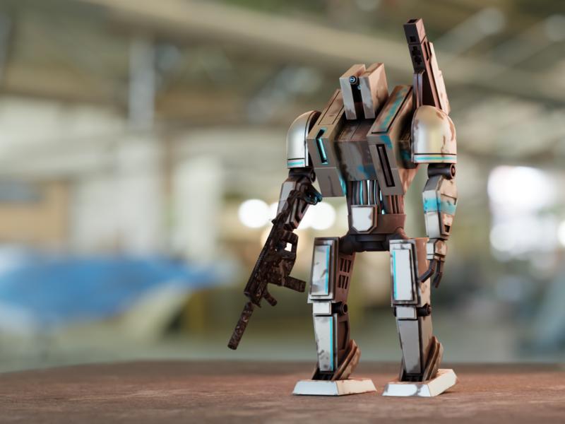 Box Robot concept art mecha science fiction render light robot 3d artist blender 3d art 3d