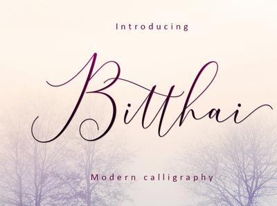 Font Bitthai Script