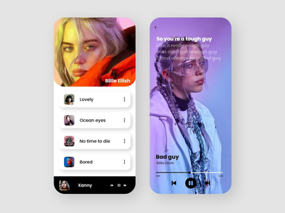 UI/UX | Apple Music Redesign minimal user interface ux ui illustration illustrator graphic design design branding app