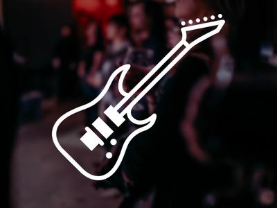 ESP Guitar Icon icon design music guitar flat simple icon