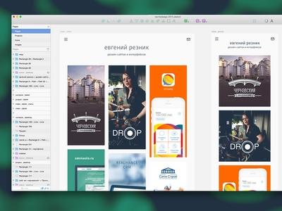 Reznikdesign.me redesign simple portfolio concept redesign sketchapp responsive mobile flat