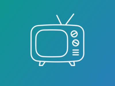 TV icon flat vector object tv flaticon icondesign icon
