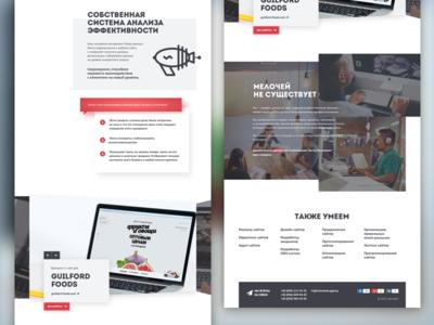 Services/websites page 2 slideshow icons clean typography landing wip flat sketchapp ui web uidesign webdesign