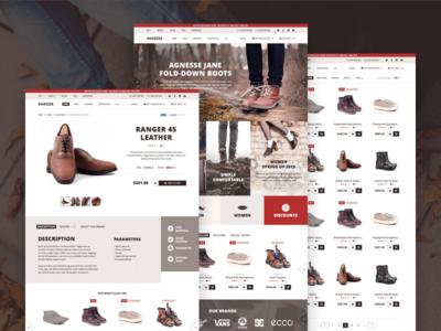 Shoezee samples web ux ui flat uidesign webdesign sketchapp themeforest template shop shoes ecommerce