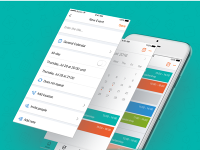 Agendo - Calendar settings booking events ios business calendar