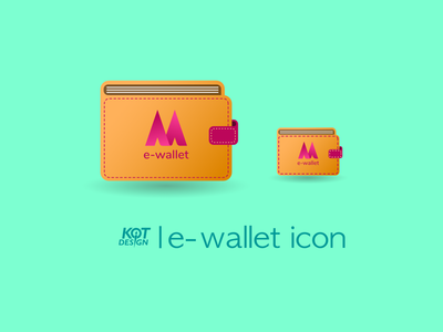 E-wallet icon for mobile app