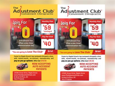 The Adjustment Club Flyer