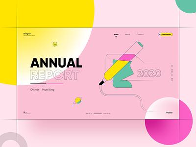 Annual Report typography ux ui illustration logo webdesign website web icon design