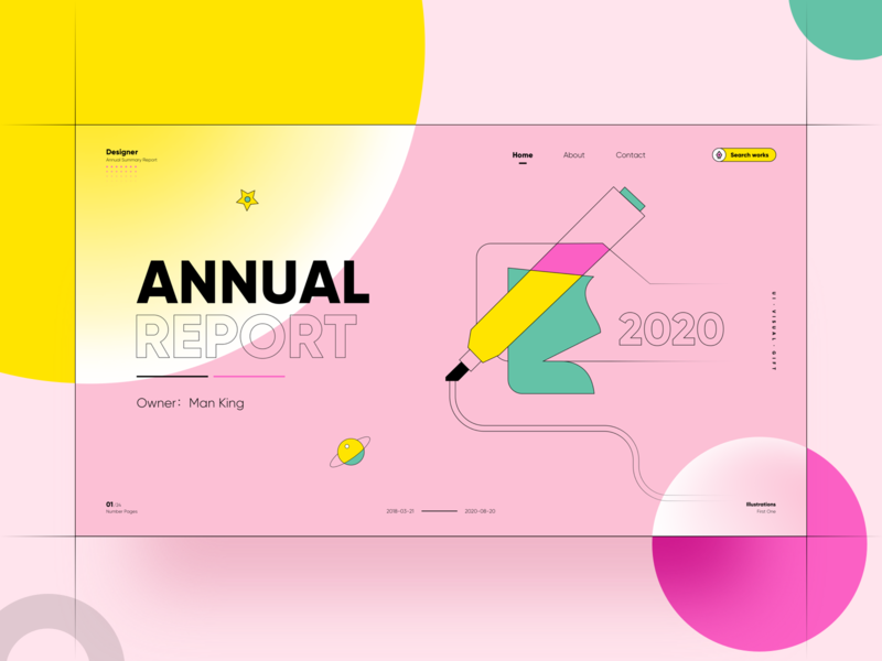 Annual Report typography ux ui illustration logo webdesign website web icon design