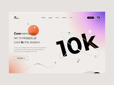 10K - Zcool panel 10k webdesign web website illustration app icon ui design
