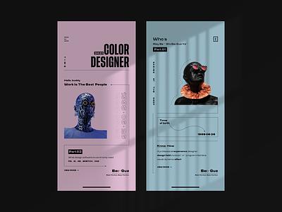 Visual Exploration-02 website panel app ui icon design