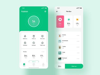 Clean up App - 01 ux icon app ui design