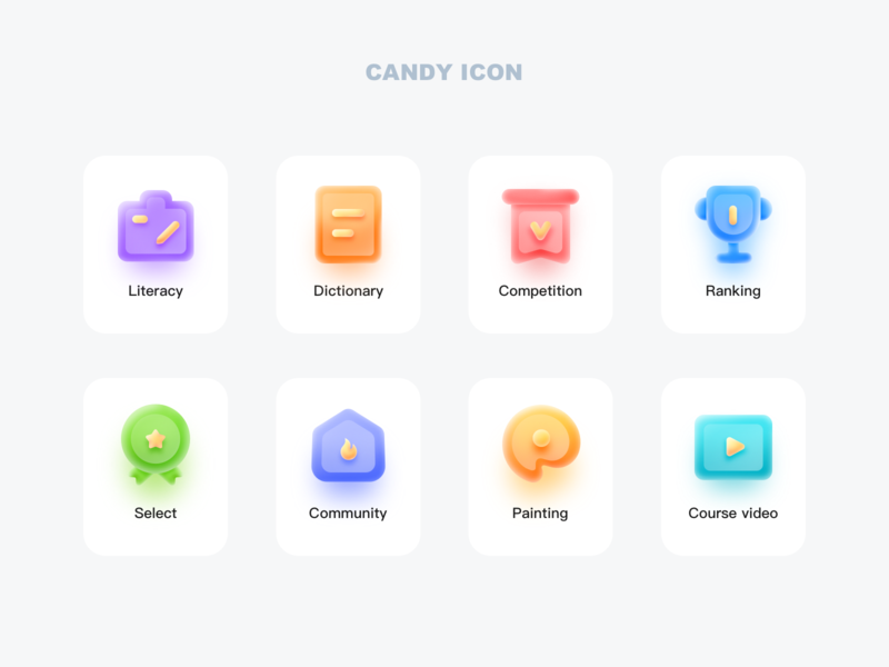 Candy Icon 图标 ux ui icon design app