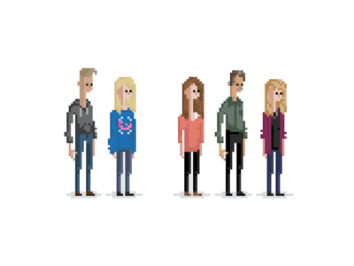 Pixel Family live laugh love home is where the heart is people pixel art pixel family chillin 8 bit
