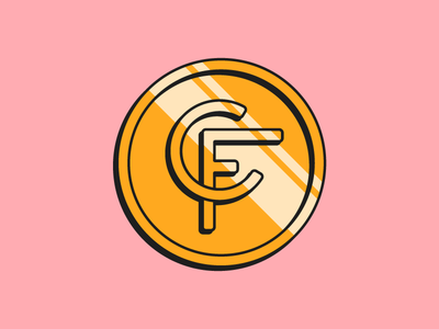 Coinfinds Logo 2d shiny line cash money coin