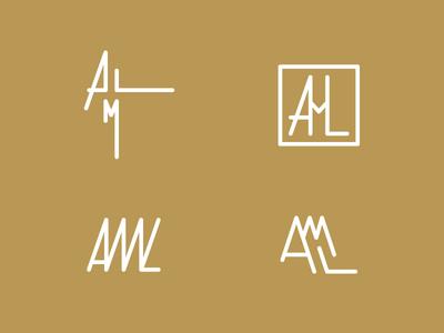 AML Wedding Design wedding minimal simple lines lettering letters logo monogram