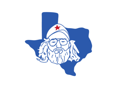 Texas Boy face sticker simple glasses beard state lone star star drawing line texas