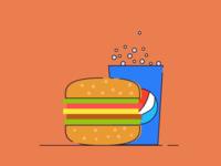 Burger & Pepsi