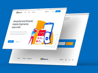 Beacash Landing page design ui ui  ux web inspiration website landing page