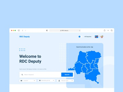 RDC Deputy landing page landing page website ux ui web