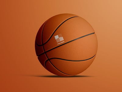 Ball With logo graphic design branding basket ball