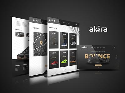 Akira Web Pages fashion eco website ux ui