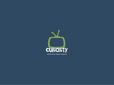 curiosity logo brand tv logo logodesign