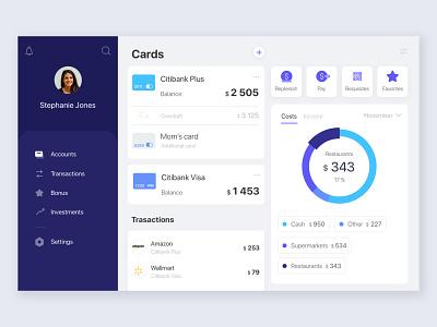 Desktop Banking App desktop credit card payment pay clean wallet managment transaction dashboard uiux finance budget money app bank app banking bank atm ux ui
