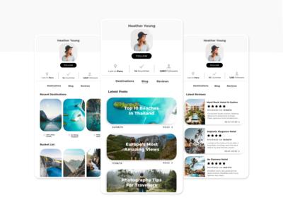 User Profile - Social Travel App