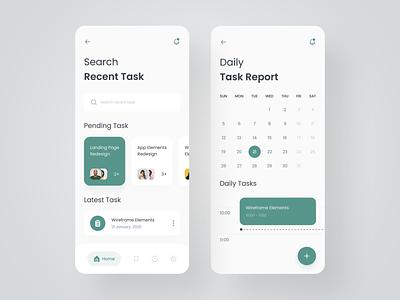 Task Management App color task management product design schedule calendar typography mobile app mobile task interface ios design ux ui user interface application app design app minimal 2020 trend
