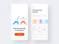 Exercise App 🏋🏻 gym app cycling health gym workout fitness app exercise ux product design mobile illustration mobile app color 2020 trend application app design app user interface ui minimal