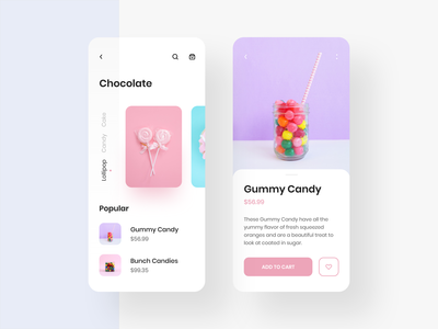 Chocolate App UI