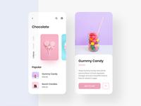 Chocolate App UI