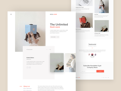 Book Lover Landing Page