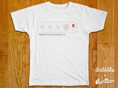 Perpetum socket`s  tshirt shirt threadlless illustration