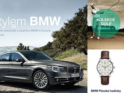 BMW lifestyle  bmw lifestyle responsive teaser shop design web