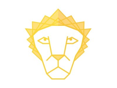 Lion, Löwe, Lüvi ilustration lion design icon flat yellow head