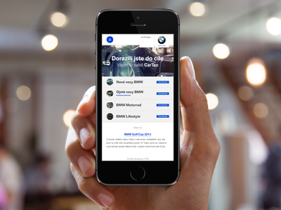 Bmw CarTec mobile web