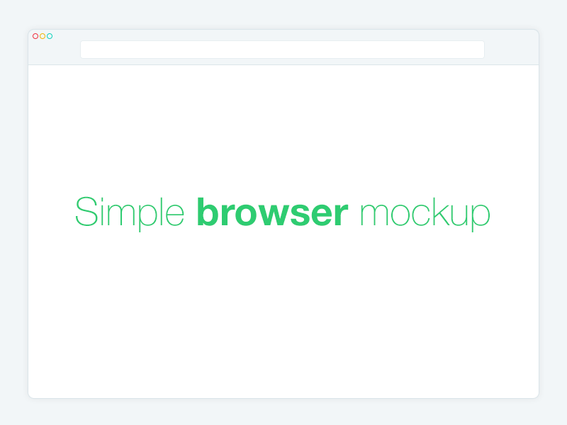 Simple Browser Mockup  simple flat browser free mockup design ui replace screenshot