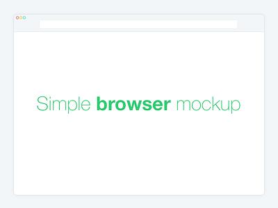 Simple Browser Mockup  simple flat browser free mockup design ui replace screenshot