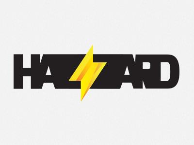 Hazzard Films new identity logo identity bold hazard wakeboard movies brand
