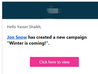 Mail alerts for campaign creation.
