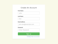 A yet another sign up page again :)