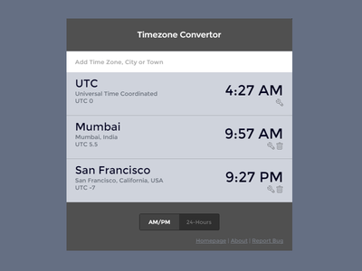 Timezone convertor