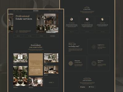 Real Estate promo website promo website ux design luxury gold real estate gsndesign ui webdesign website