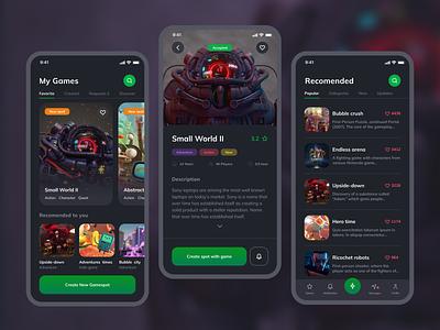Board game booking app gaming board game mobile design design gsndesign ux ui mobile mobile app design booking app game